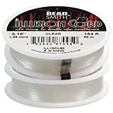 Beadsmith Illusion Monofilament Bead Cord .010 in 6 lb 164ft, 2 Pack (Tamaño: 2 Pack)