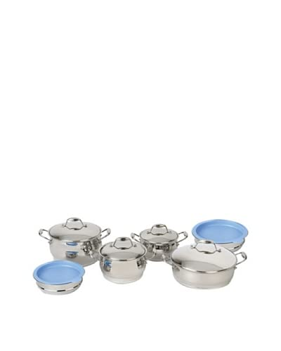 BergHOFF Zeno 12-Piece Cookware Set with Mixing Bowls, Silver