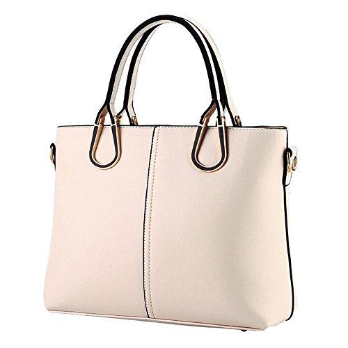 Koson-Man-Borsa Vintage da donna, borsetta per impugnatura, bianco (Bianco) - KMUKHB267