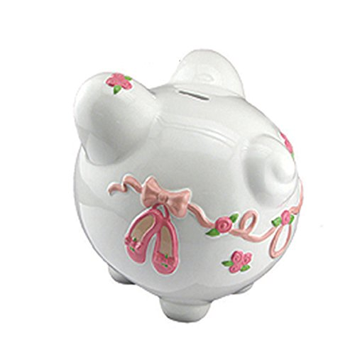 Large Ballet Ceramic Piggy Bank