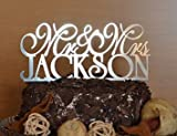 Personalized Custom Mr & Mrs Wedding Cake Topper with Your Last Name Initial Wedding Cake Decor