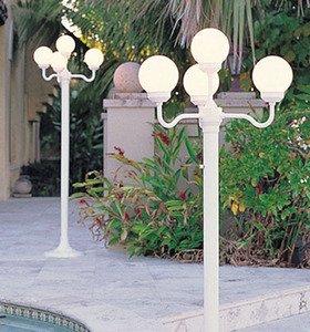 Amazon Lighting Four Globe Luminaire Light Stand