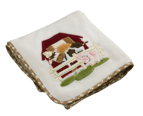 NoJo Farm Babies Coral Fleece Blanket