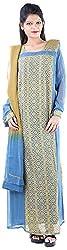 JYOTI Women's Georgette Unstiched salwar Suit (JBAM-37, Navy & Grey)