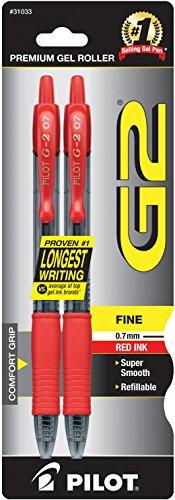 Pilot Pen Corporation 2 Count Red Fine Point  G2 Retractable