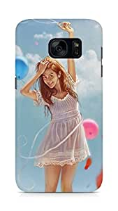 Amez designer printed 3d premium high quality back case cover for Samsung Galaxy S7 (Cartoon Girl)