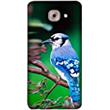 FUSON Designer Back Case Cover For Samsung J7 Max G615F/DS, Samsung Galaxy On Max, Samsung Galaxy J7 Max (Autumn Birdwatching Branch Flower Claw Concept Beautiful Early)