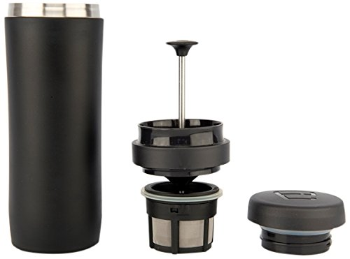 Espro Stainless Steel 12 Ounce Travel Press with Coffee Filter, Matte Black (French Coffee Press Travel Mug compare prices)