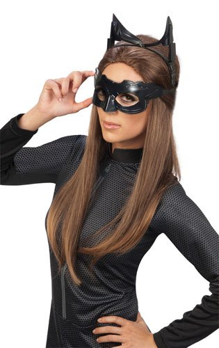Batman The Dark Knight Rises Deluxe Catwoman Goggles mask, Black, One Size - 1