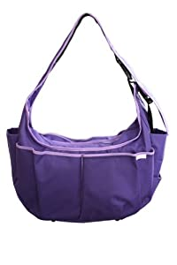 Baby Hobo Original Diaper Bag and Nursing Pillow in One (Lavender Leaves) by Warm Milk