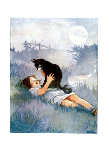 Girl talking to her cat - Friendship Greeting Card