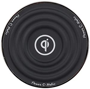 PowerHolic OWC-300T Black Qi Wireless Charging Pad for Mobile Phones - Retail Packaging - Black