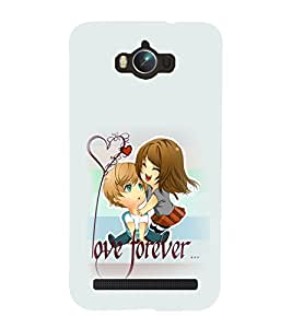 99Sublimation love Forever 3D Hard Polycarbonate Back Case Cover for Asus Zenfone Max ZC550KL :: 2016 :: 6A076IN