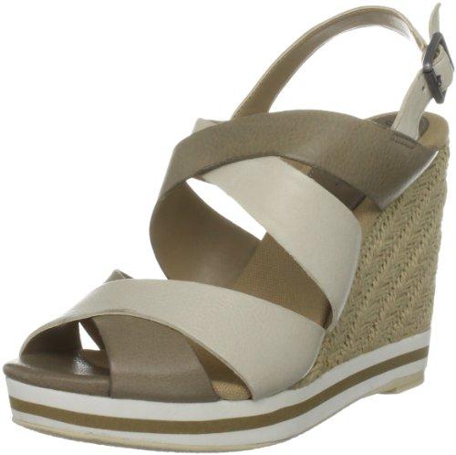 Gunmetal Women's Christina Taupe/Beige Wedges Heels 84926/13470 7 UK