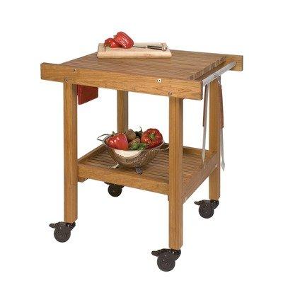 JK Adams BBQ Cart Outdoor Serving Cart Cherry