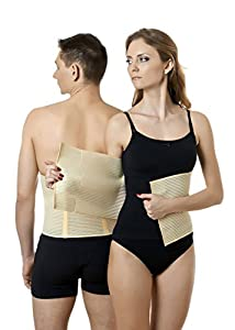 ®BeFit24 - Medical Abdominal Binder - Post Surgical & Postpartum Belt - Postnatal Belly Wrap - Abdomen Support Band - Made in Europe - 5 Year Warranty