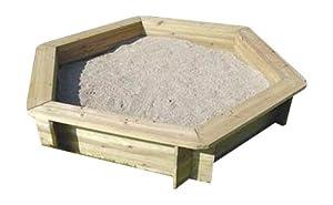 BENTLEY KIDS WOODEN OUTDOOR HEXAGONAL SAND PIT CHILDRENS SAND BOX