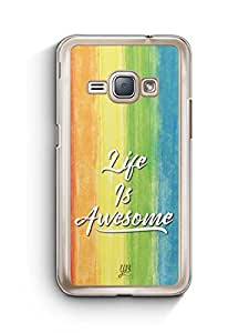 YuBingo Life is Awesome Designer Mobile Case Back Cover for Samsung Galaxy J1 2016