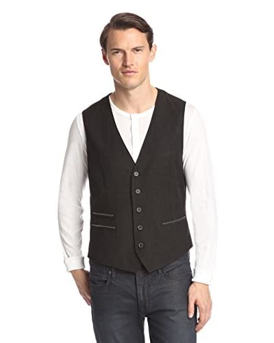 John Varvatos Star USA Men's Vest with Zipper Details