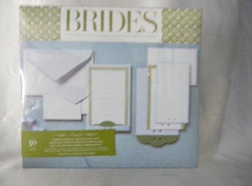Brides Magazine Wedding Invitation Kit Arts Entertainment Party Celebration Party Supplies