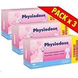 physiodose serum physiologique 40 dosettes lot de 3