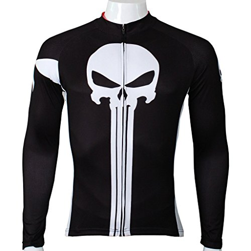 PaladinSport Men's Punisher Pattern Long Sleeve Bike Jersey Size XXL (Colombia Retro Cycling compare prices)