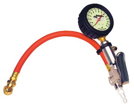 Longacre Racing Quick Fill Tire Air Pressure Gauge0-15 PSI - 2.5