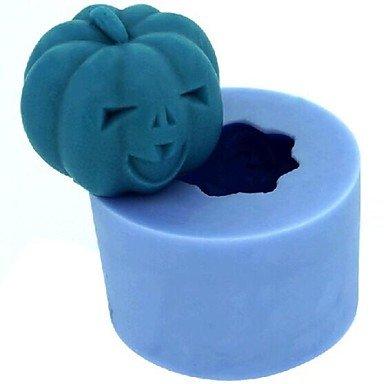Cran Halloween Citrouille Fondant Moule Gâteau Au Chocolat Bougie De Silicone, L4.2cm * W4.2cm * H3.4cm