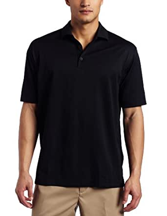 NIKE Men's Stretch UV Tech Solid Golf Polo, Black, Large