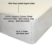 Big Sale Organic Cotton Mattress Pad With Organic Filling