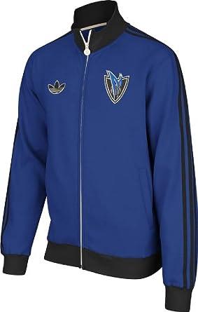 Dallas Mavericks Adidas NBA Originals Fleece Track Jacket (Blue) by adidas