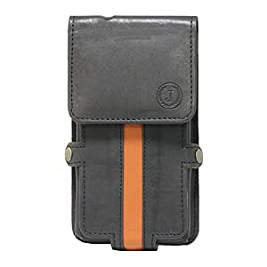 Jo Jo A6 Nillofer Series Leather Pouch Holster Case For Oppo R9 Black Orange