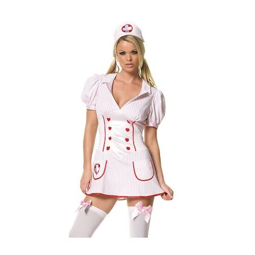 Sexy Costume: Hot Babes in Nurse Heartfelt - Sexy Adult Nurse Costumes / Lingerie Outfits