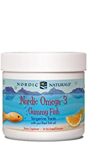 Omega-3 Gummy Fish, 30 fish-shaped Gummies, tangerine