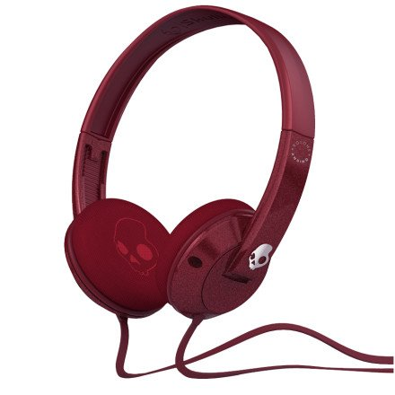 Skullcandy Uprock Kolohe Andino Surf Collaboration With Mic Sports Collection Wired Headphone - Maroon/Chrome