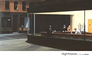 Nighthawks By Edward Hopper 24 X 36 Famous Lithograph of an Classic Masters Coffeeshoppe Scene