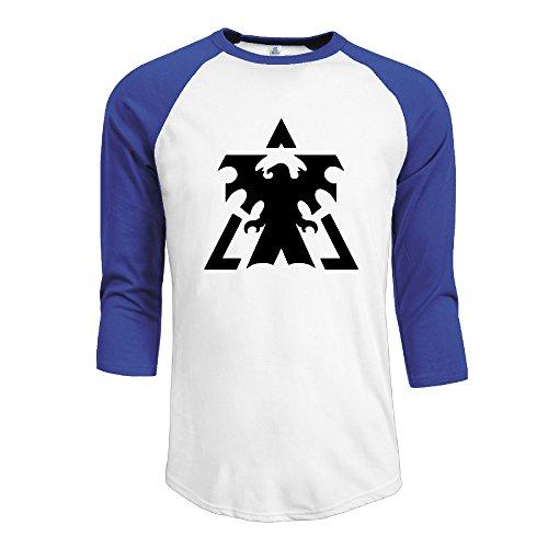 NINJOE-Mens-Sportstyle-34-Raglan-Starcraft-T-Shirt-RoyalBlue
