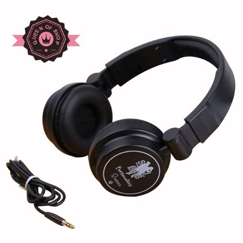 Queen Ke600 Black Adjustable Circumaural Over Ear Round Candy Colorful Earphone Headphone For Pc Mp3 Mp4 Ipod Iphone Ipad Tablet - Red Gift For Girl