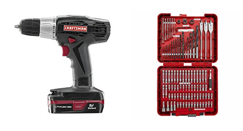 Craftsman | Best Power Drill & Accessory Kit Bundle | C3 19.2 Volt Driver w Battery & Charger | Guaranteed | 100 PC Bit Set | Top Rated - #1 Seller | Home Improvement | Flat and Phillips | Metal Wood (Knife Sharpener Fixture compare prices)