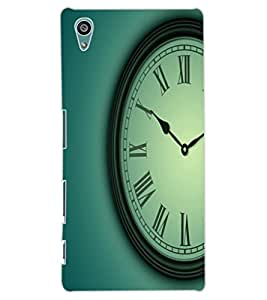 ColourCraft Clock Design Back Case Cover for SONY XPERIA Z5
