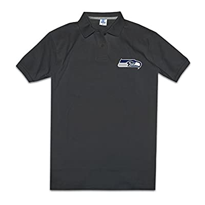 Seattle Seahawks Primary Team Logo Mens Fashion Polo Shirts