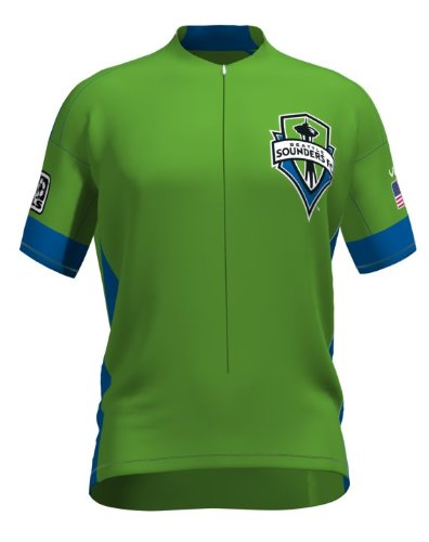 MLS Seattle Sounders Women's Secondary Short Sleeve Vomax Jersey, Small (Sounders Cycling Jersey compare prices)
