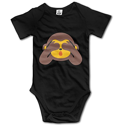 [ALEXBY Infant See NO EVIL MONKEY Short Sleeve RomperOutfits] (Make Monkey Magic Costume)