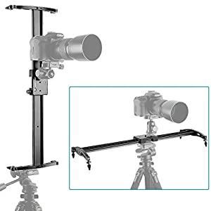 Neewer® 47/120cm DSLR Camera Track Dolly Slider Video Stabilization Rail System with 176oz/5kg Load Capacity, Perfect for Photography and Video