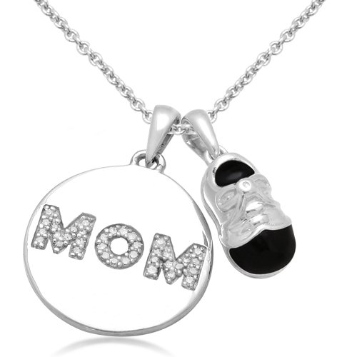 Sterling Silver Enamel Baby Shoe and