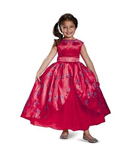 [Disney Elena of Avalor Deluxe Costume Dress & Wig ~ Medium 7/8] (Dress Deluxe Costumes)
