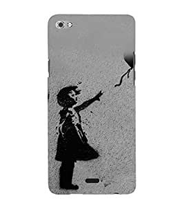 Child with a Balloon 3D Hard Polycarbonate Designer Back Case Cover for Micromax Canvas Sliver 5 Q450