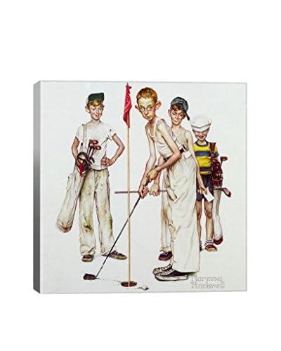 Norman Rockwell Four Sporting Boys: Golf Giclée Print