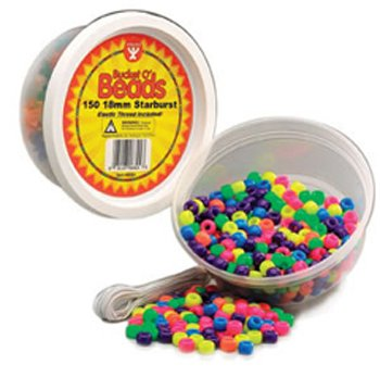 15 Pack HYGLOSS PRODUCTS INC. NEON BARREL BEADS