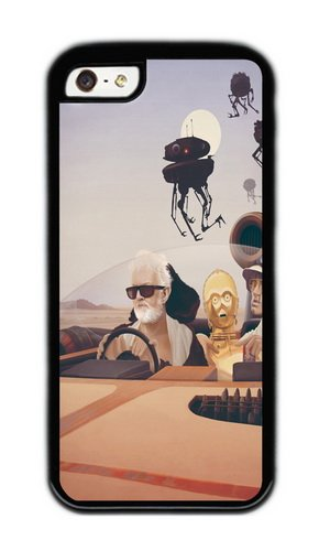 Apple Iphone 5C Case,WENJORS Cute Fear and Loathing on Tatooine Soft Case Protective Shell Cell Phone Cover For Apple Iphone 5C - TPU Black
